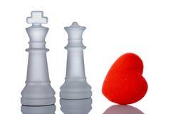 Roi et reine dans l'amour image libre de droits