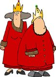 Roi et reine rouges Image stock