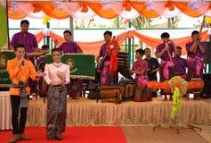 Roi Et Thailand - Januari 18: Student av högskolan av dramatiska konster arkivfoto