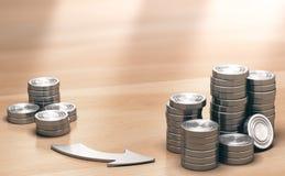 ROI, fondo de la inversión muy rentable Imágenes de archivo libres de regalías