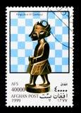 Roi (Java), serie de pièces d'échecs, vers 1999 Photographie stock libre de droits