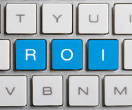 ROI On Keyboard Lizenzfreie Stockbilder