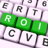 Roi Keys Mean Financial Or Return On Investment. Roi Keys Meaning Return On Investment Invest Or Capital Stock Photo