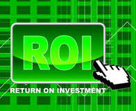 Roi Online Indicates Investor Websites And Shares Stock Image