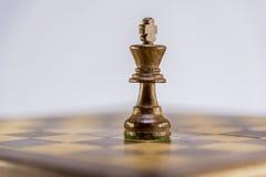 Roi, partie d'échecs Photo stock