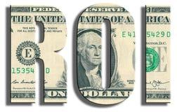ROI - rentabilidade do investimento Textura do dólar americano Foto de Stock Royalty Free
