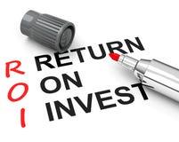 Roi - return on invest. Business return on invest concept stock illustration