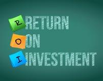 ROI - return on investment Stock Image