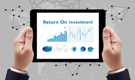 Roi Return On Investment Analysis-Financiënconcept royalty-vrije stock fotografie