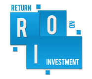 ROI - Return On Investment Blue Squares Text Royalty Free Stock Photography