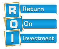 ROI - Return On Investment Blue Vertical Royalty Free Stock Photo