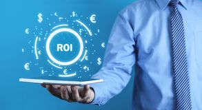 ROI - Return on Investment. Business concept stock images