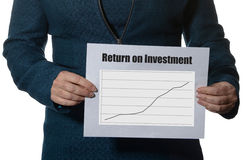 ROI or Return on investment Royalty Free Stock Photos