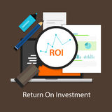 ROI Return on of investment Stock Images