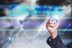 ROI, Return on investment business and technology concept. Virtual screen background. ROI, Return on investment business and technology concept. Virtual screen Stock Photography