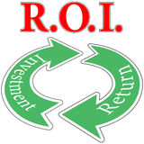 ROI Return On Investment cirkulering Arkivbild