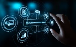 ROI Return on Investment Finance Profit Success Internet Business Technology Concept royalty free stock image