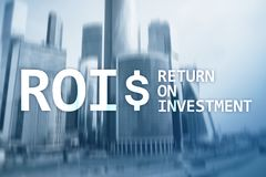 ROI - Return on investment, Financial market and stock trading concept.  stock photos