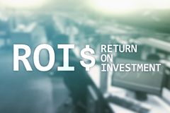 ROI - Return on investment, Financial market and stock trading concept.  royalty free stock photo