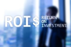 ROI - Return on investment, Financial market and stock trading concept.  royalty free stock photography