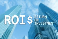 ROI - Return on investment, Financial market and stock trading concept.  stock photo