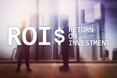 ROI - Return on investment, Financial market and stock trading concept.  stock images
