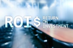 ROI - Return on investment, Financial market and stock trading concept.  stock image