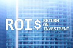 ROI - Return on investment, Financial market and stock trading concept.  royalty free stock image