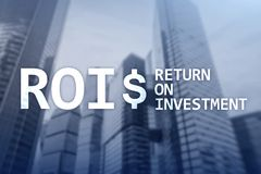 ROI - Return on investment, Financial market and stock trading concept.  royalty free stock photos