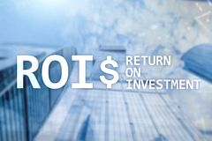 ROI - Return on investment, Financial market and stock trading concept.  stock photography