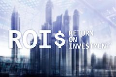 ROI - Return on investment, Financial market and stock trading concept royalty free stock photography