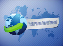 ROI return on investment globe concept Royalty Free Stock Photography