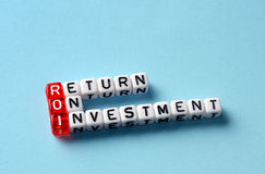 Roi return on investment Stock Images