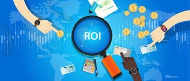 ROI Return på av investeringen stock illustrationer