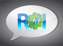 Roi speech bubble Royalty Free Stock Images