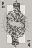 Roi squelettique Photos libres de droits