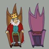Roi sur l'illustration de trône Images stock