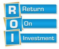 ROI - Verticale bleue de retour sur l'investissement illustration de vecteur