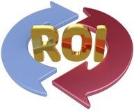 ROI wskaźnika rentowności strzała Obrazy Stock