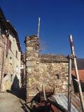Roiale, een spook middeleeuws dorp royalty-vrije stock fotografie