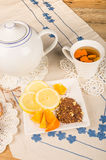 Roibos orange tea Royalty Free Stock Image