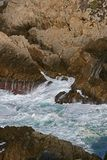 The Roiling Seas of Point Lobos Stock Photography