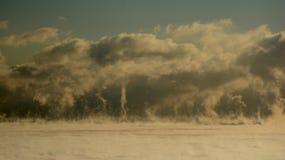 Roilingsdampen op Meer Michican stock fotografie