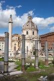 Roins of Roman Forum, Trajan's column in Rome Royalty Free Stock Photos