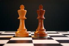 Rois d'échecs à bord Photo libre de droits