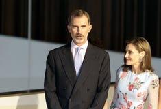 Rois de l'Espagne à l'ouverture de palais du congrès en Majorque Image stock