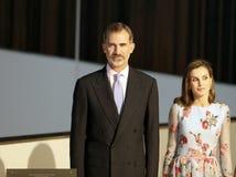 Rois de l'Espagne à l'ouverture de palais du congrès en Majorque Photo stock