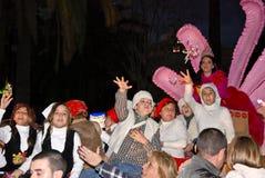 Rois magiques - défilé de visibilité directe Reyes Magos à Malaga Image libre de droits