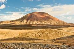Roja Montana volcano, Furteventura. Roja Montana, Red mountain volcano, Fuerteventura, Canary Islands, Spain Royalty Free Stock Photography