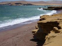 Roja Playa στη χερσόνησο paracas στο Περού Στοκ Εικόνα